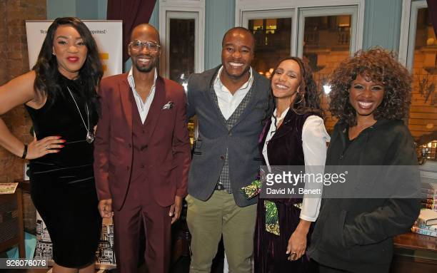 Bianca Miller Cole Byron Cole Ronald Ndoro Afua Hirsch and June Sarpong attend the launch of the 'London's Big Read' campaign in celebration of World...