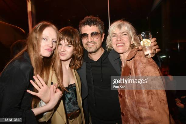 Bianca O'Brien Angele Metzger Stephane Metzger and Marie Metzger attend Les Bains Music Festival Day Two at Les Bains Paris on February 21 2019 in...