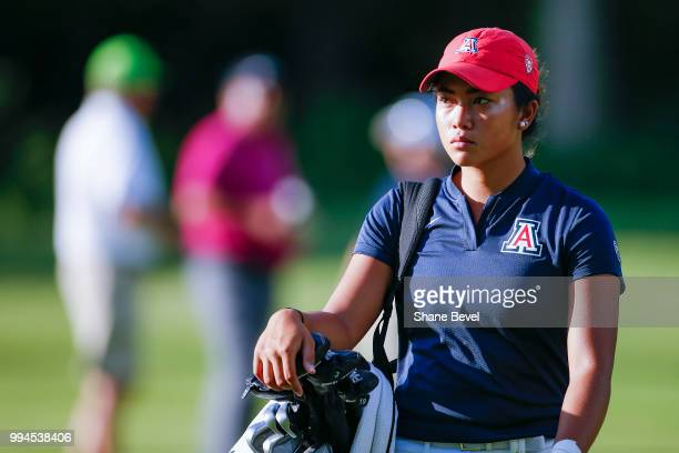 Bianca Pagdanganan of Arizona walks on the 16th hole fairway during the Division I Women's Golf Team Match Play Championship held at the Karsten...