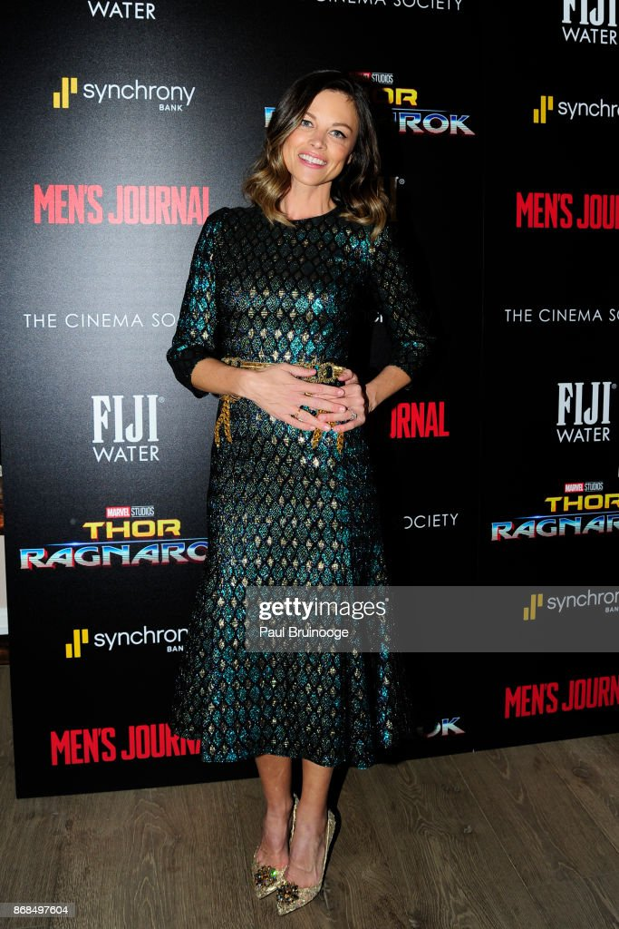 Bianca Rhinehart attends The Cinema Society with FIJI Water, Men's Journal, and Synchrony host a screening of Marvel Studios' 'Thor: Ragnarok' at the Whitby Hotel on October 30, 2017 in New York City.