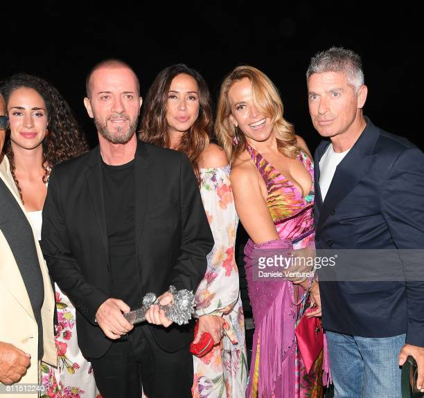 Bianca Riefoli Raffaele Riefoli aka Raf and Gabriella Labate Barbara D'Urso and Giorgio Rastelli attend 2017 Ischia Global Film Music Fest on July 9...