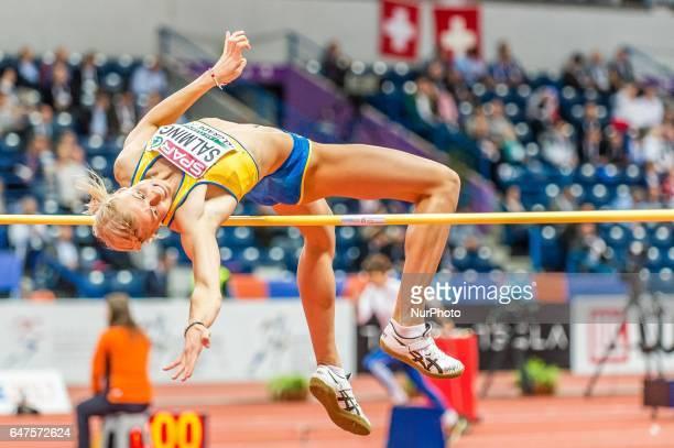 Bianca Salming Sweden at high jump under Pentathlon for women at European athletics indoor championships in Belgrade on March 3 2017