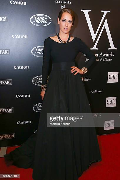Bianca Schwarzjirg attends the Vienna Awards 2014 at MAK Museum fuer angewandte Kunst on April 24 2014 in Vienna Austria