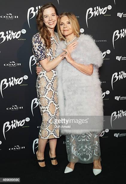 Bianca Spender and Carla Zampatti arrive at the Buro 24/7 Australia launch at the Sydney Opera House on April 14 2015 in Sydney Australia