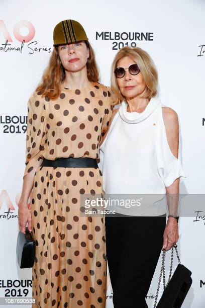 Bianca Spender and Carla Zampatti arrives at the AO Inspirational Series Brunch at The Glasshouse on January 24 2019 in Melbourne Australia