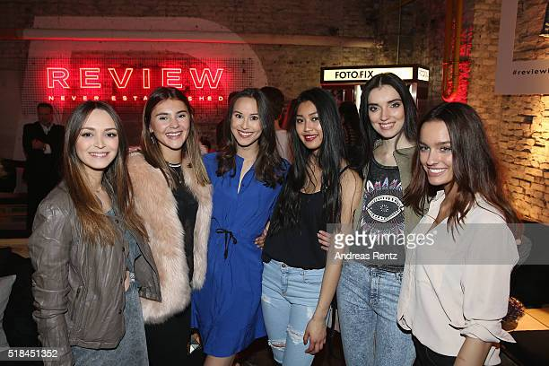 Bianca , Stefanie Giesinger, Mia , Anuthida Ploypetch, Angelina and Jueli Mery attend the REVIEW by Sami Slimani Capsule Collection launch party on...