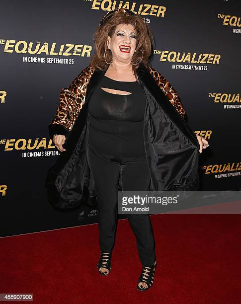 "Bianca Venuti poses on the red carpet at ""The Equalizer"" Sydney Premiere at Event Cinemas George Street onSeptember 22, 2014 in Sydney, Australia."