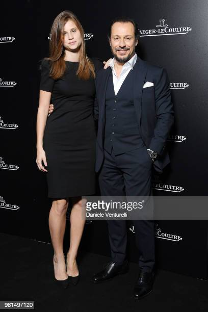 Bianca Vitali and Stefano Accorsi attend Polaris Collection presentation by Jaeger LeCoultre on May 22 2018 in Milan Italy