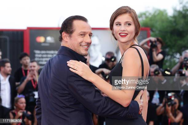Bianca Vitali and Stefano Accorsi walk the red carpet ahead of the The Laundromat screening during the 76th Venice Film Festival at Sala Grande on...