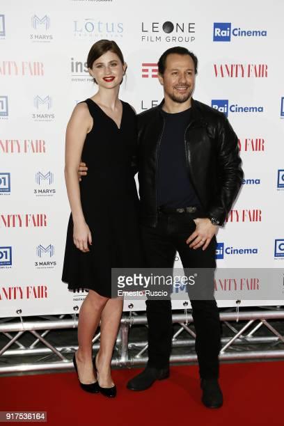 Bianca Vitalia and Stefano Accorsi attend 'A Casa Tutti Bene' premiere on February 12 2018 in Rome Italy