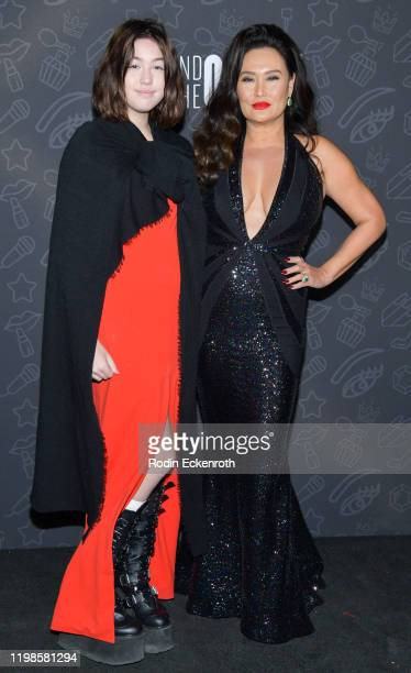 Bianca Wakelin and Tia Carrere attend Premiere of Netflix's AJ and the Queen Season 1 at the Egyptian Theatre on January 09 2020 in Hollywood...