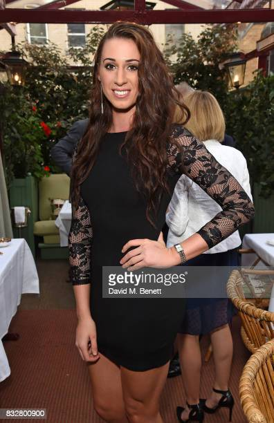 Bianca Walkden attends a VIP Dinner with Longines and Simon Baker to celebrate the Commonwealth Baton arriving in London at Marks Club on August 16...