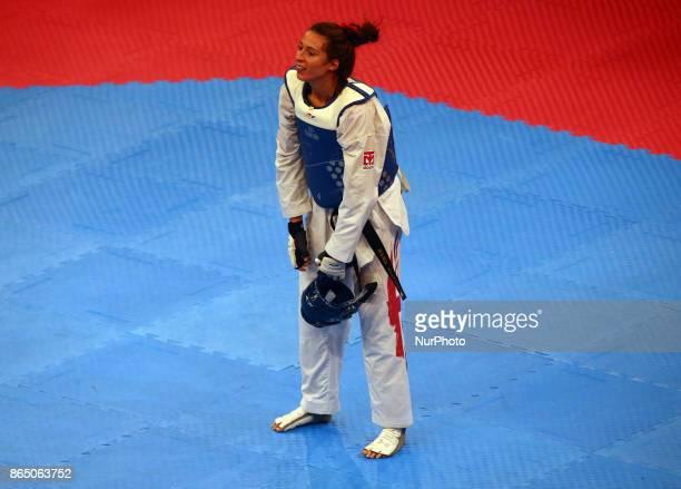 Bianca Walkden of Great Britain Seniors Female A 67 Semi Final during 2017 London World Taekwondo Grand Prix G4 at Copper Box Arena London Britain 21...