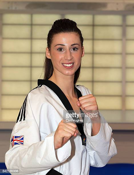 Bianca Walkden poses for a photo during the announcement of taekwondo athletes named in Team GB for the Rio 2016 Olympic Games at the National...