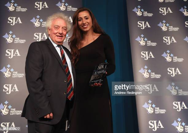 Bianca Walkden receives The SJA World Sport Achievement Award during The SJA British Sports Awards 2017 at the Tower of London on December 6 2017 in...