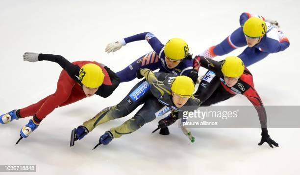 Bianca Walter of Germany Suk Hee Shim of South Korea Jiaying Tao of China Ami Hirai of Japan and Veronique Pierron of France in action during the...