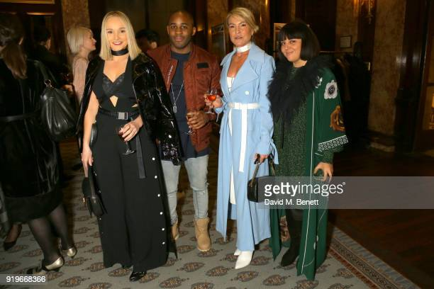Bianca Whyt guest Lynn Haywood and Tanja Mrnjaus attend the Opening evening for the Australian Fashion Council's inaugural showroom in London...