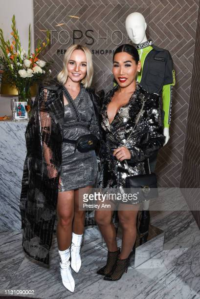 Bianca Whyte and Gia Gunn attend Fashion Designer Bianca Whyte's Launch Of Her LondonBased Fashion Label Whyte Studio At Topshop at TopShop on...