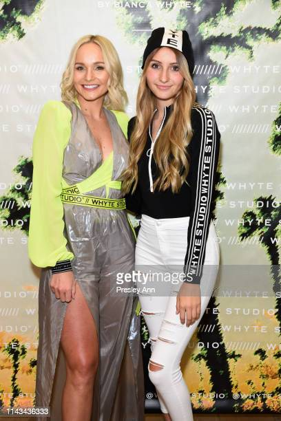 Bianca Whyte and Sophia Strauss attend launch event for Whyte Studio's Festival Capsule Collection at Top Shop at the Grove on April 17, 2019 in Los...