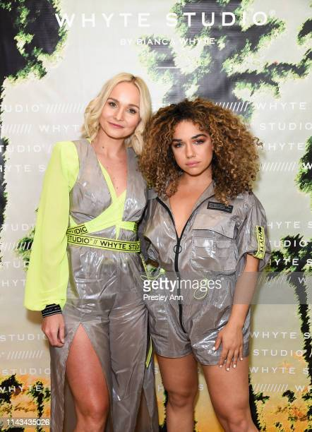 Bianca Whyte and W BY WHITE WOLFE // TAMMY attend launch event for Whyte Studio's Festival Capsule Collection at Top Shop at the Grove on April 17...