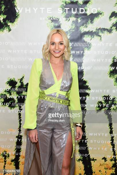 Bianca Whyte attends launch event for Whyte Studio's Festival Capsule Collection at Top Shop at the Grove on April 17 2019 in Los Angeles California
