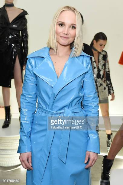 Bianca Whyte attends the Whyte Studio Freestyle Event during London Fashion Week February 2018 at The White Space on February 20 2018 in London...