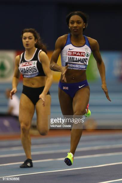 Bianca Williams of Enfield and Haringey Harriers during the women's 60 metres heats during day one of the SPAR British Athletics Indoor Championships...