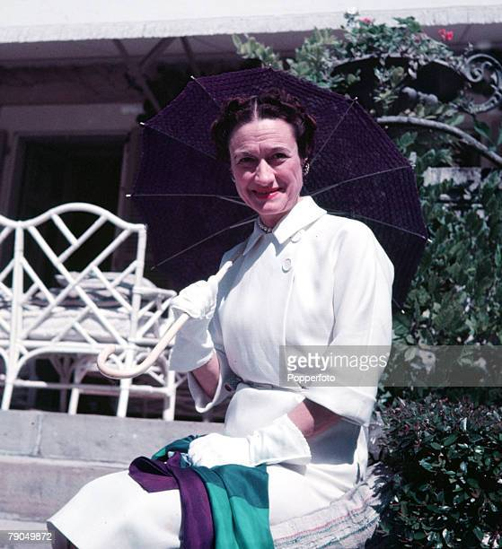 Biarritz France The Duchess of Windsor is pictured at the villa she shares with her husband the Duke of Windsor