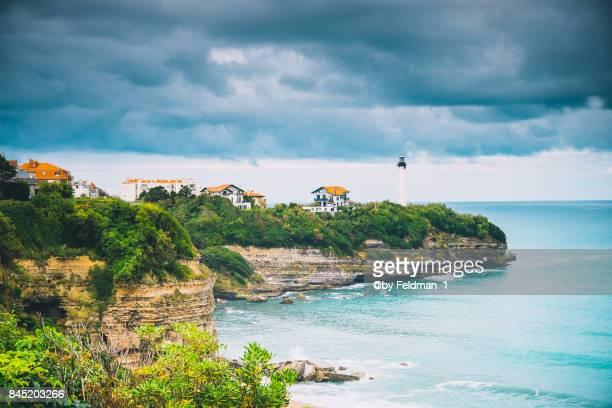Biarritz lighthouse, Phare de Biarritz, Atlantic Ocean, France