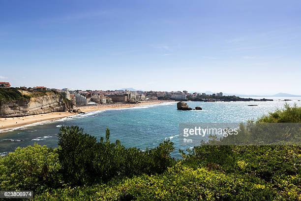 Biarritz near the Atlantic Ocean - bay of biscay (France)
