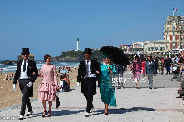 Biarritz on 'Biarritz Annees Folles' a one day event in the Basque city during which more than 250 volunteers put on costumes from the 20s to step...