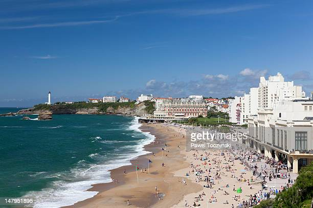 biarritz waterfront, basque country, france - biarritz stock pictures, royalty-free photos & images