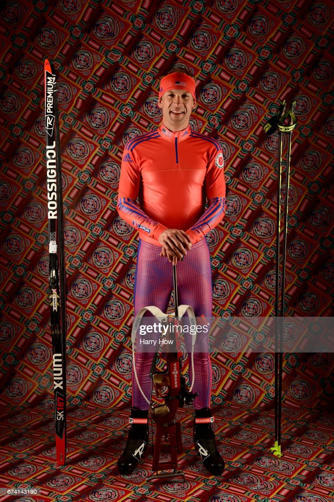 Biathlete Lowell Bailey poses for a portrait during the Team USA PyeongChang 2018 Winter Olympics portraits on April 27, 2017 in West Hollywood, California.