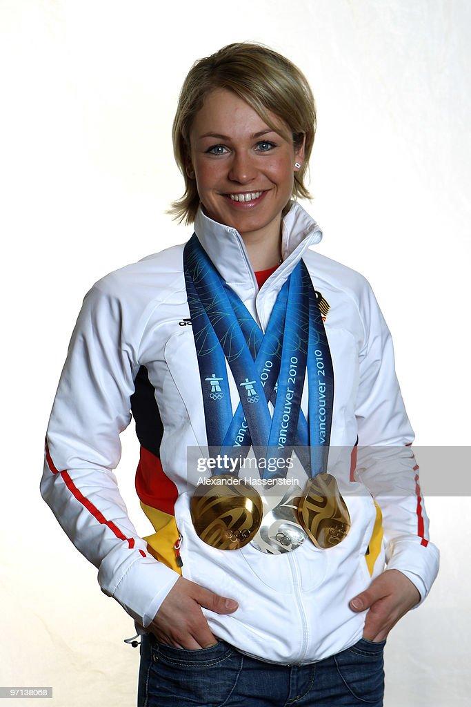 Magdalena Neuner Olympic Medal Photoshoot