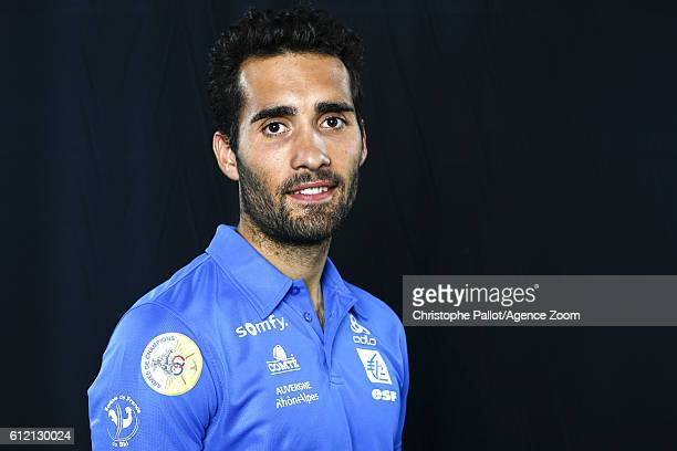 Biathlete Martin Fourcade of France during the French Ski Federation Team Presentations on October 3 2016 in Paris France