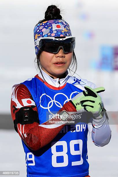 Biathlete Yuki Nakajima OF Japan attends a practice session ahead of the Sochi 2014 Winter Olympics at the Laura CrossCountry Ski and Biathlon Center...