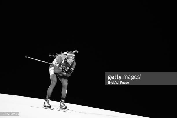 2018 Winter Olympics South Korea Timofey Lapshin in action during Men's 10km Sprint at Alpensia Biathlon Centre PyeongChangGun South Korea 2/11/2018...