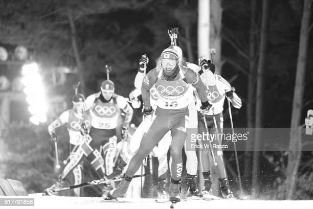 2018 Winter Olympics South Korea Timofey Lapshin in action during Men's 125km Pursuit at Alpensia CrossCountry Centre PyeongChangGun South Korea...