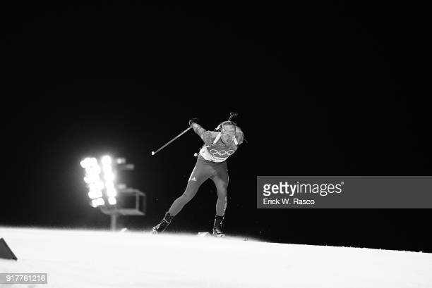 2018 Winter Olympics USA Sean Doherty in action during Men's 10km Sprint at Alpensia Biathlon Centre PyeongChangGun South Korea 2/11/2018 CREDIT...