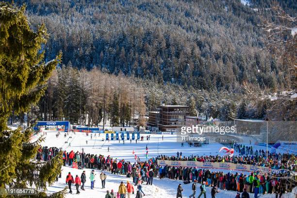 Biathlon Arena Lenzerheide Overview during the Women's and Men's Qualification at the FIS Cross-Country World Cup Lenzerheide at on December 29, 2019...