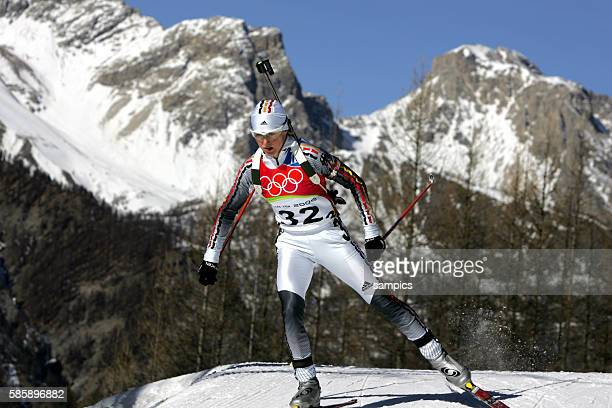 Biathlon Frauen biathlon women 15km Bronze fr Martina Glagow olympische Winterspiele in Turin 2006 olympic winter games in torino 2006 | Location San...