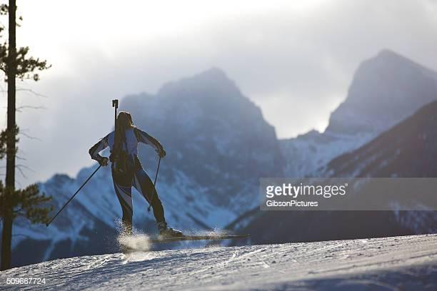 Biathlon Ski Racer Girl