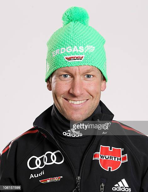 Biathlon technician Andreas Emslander of Germany poses during a photo call on October 26 2010 in Ingolstadt Germany