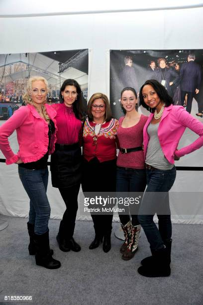 Biatta Makurat Jacqueline Aizen Fern Mallis Irish Rose Petrie and Colleen Abiola attend HEART TRUTH RED DRESS 2010 Collection at NY Public Library on...