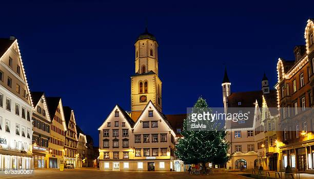 Biberach decorated for Christmas