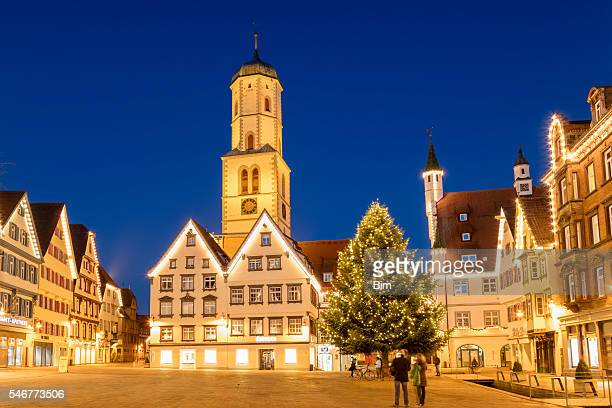 Biberach, Germany, Town square, old town, decorated for Christmas