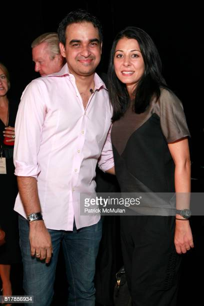 Bibhu Mohapatra and Aida Khoursheed attend BIBHU MOHAPATRA Spring 2011 Show at The Box at Lincoln Center on September 14 2010 in New York City