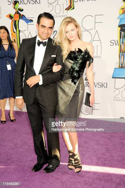 Bibhu Mohapatra and Edita Vilkeviciute attends the 2011 CFDA Fashion Awards at Alice Tully Hall, Lincoln Center on June 6, 2011 in New York City.
