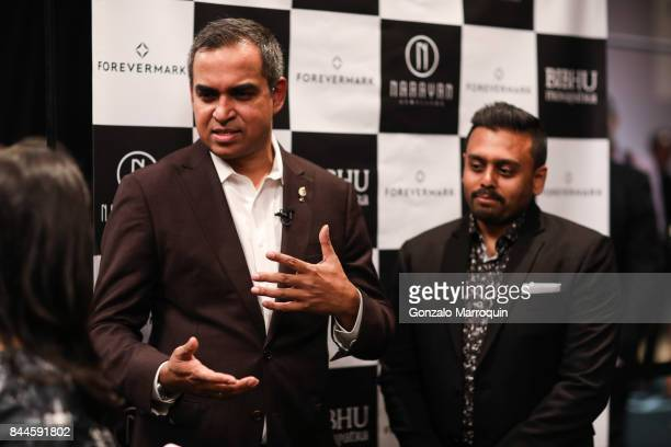 Bibhu Mohapatra and Ketan Chokshi during the Bibhu Mohapatra fashion show with Narayan Jewellers in association with ForeverMark Diamonds at Skylight...