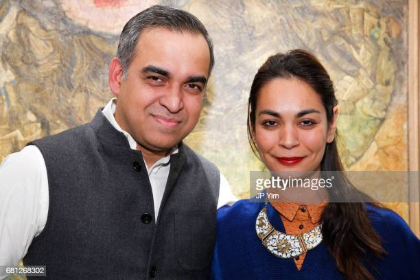 Bibhu Mohapatra and Shruti Ganguli attend 'A Magic Bus Cocktail Party' at DAG Modern on May 9 2017 in New York City